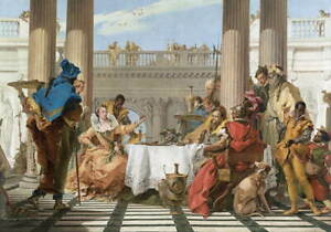 Giovanni Battista Tiepolo The Banquet of Cleopatra Poster Giclee Canvas Print