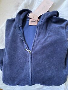 NWOT Juicy Couture Blue Terry Jacket /hoodie Size Small