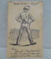 "WWII PARRIS ISLAND ""Boots"" Comic Military Postcard 1944 Blank Set of 3 Fleming"