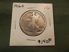 1916S VG silver Walking Liberty half dollar, see our store, 1916-S