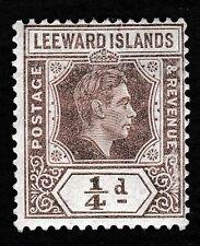 NO 432 - Leeward Islands 1/4d Stamp KGV1 - 1938-51 - MINT/ HINGED