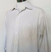 Brooks Brothers 346 Slim Fit White Gray Black Window Pane Dress Shirt 17- 4/5