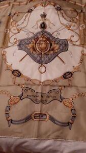 superbe foulard carre en soie Pierre Baccara