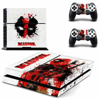 Deadpool PlayStation 4 Vinyl Skin Stickers for Sony PS4 Console 2 Controllers