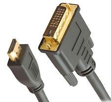 CAVO ADATTATORE CONVERTITORE GOLD DA HD HDMI A DVI -D 24+1 MASCHIO 1,5 MT METRI