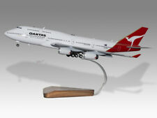 Boeing 747-400 Qantas Gear & Flaps Down Handcrafted Solid Wood Display Model