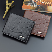 Men's Business PU Leather Bifold Wallet ID Credit Card Holder Purse Money Clip