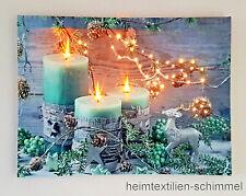 LED Bild Wandbild Wandekoration Leuchtbild Leinwandbild Beleuchtung Deko 20x15cm