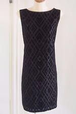 WHITE HOUSE BLACK MARKET Black Velvet Burnout Shift Dress  Sz XL / 16  BRAND NEW