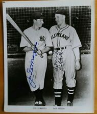 Bob Feller Joe DiMaggio Autograph Signed 8x10 Photo Cleveland Indians NY Yankees