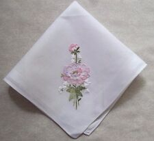 Vintage Handkerchief MENS Hankie Top Pocket Square EMBROIDERED FLORAL