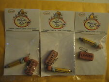 Blue sky Make it Mine Charms Teacher PENCIL & ERASER LOT of 3 school-Pink-NEW