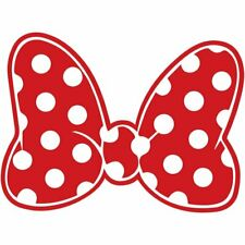 Minnie Mouse Polka Dot Bow Design Bedroom Home Decal Wall Decor Art Sticker Red