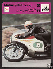 HONDA AND THE GRAND PRIX Motorcycle Racing Mike Hailwood 1978 SPORTSCASTER CARD