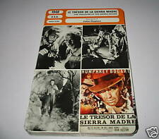 A- the treasure of the sierra madre French film card