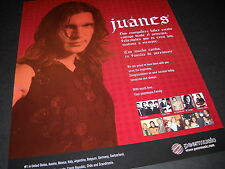 JUANES ...with you since the beginning 2006 Photo Image PROMO DISPLAY AD mint