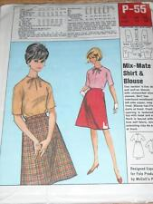 1960s FELS SOAP / McCALL'S #P-55-LADIES MIX-MATE SKIRT & BLOUSE PATTERN  14/16FF