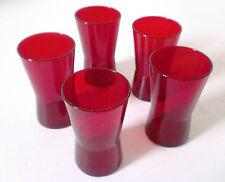 5 x Trink Glas Klaus Breit Set of five Wiesenthalhütte 60s glass Kaj Franck era