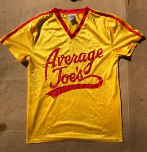 Average Joes Satin Tshirt Mens Large Dodgeball Athletic Tee Yellow