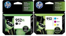 BRAND NEW Genuine OEM HP 952XL BLACK & HP 952 CYAN/MAGENTA/YELLOW INK CARTRIDGES