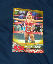Charlotte Flair 2017 WWE Womens Division #WWE-7 GOLD Parallel  #03/10