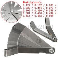 Metric 0.127-0.508mm Valve Offset Feeler Gauge 16 Blade 10mm Width 100mm Length
