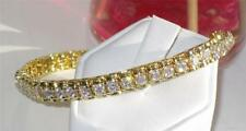 Cubic Zirconia Yellow Gold Plated Tennis Costume Bracelets