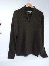 Mens Lovely TU Green Hip Length Zip Neck Knitted Jumper Size M 39-41 Chest, Vvgc