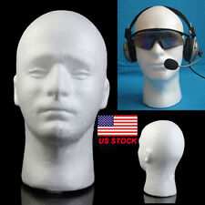 Male Mannequin Styrofoam Foam Manikin Head Wig Glasses Hat Display Stand