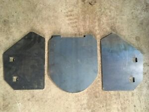 Jotul 600 replacement Set of Side Burn Plates & Top Baffle or Throat Plate.
