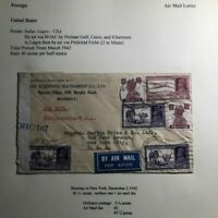 1942 Bombay India Airmail Censored Commercial Cover To New York USA Via Lagos