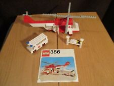 LEGO -krankenwagen avec Hélicoptère nr. 386 avec ba