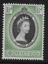 Malta Scott #241, Single 1953 Complete Set FVF MH