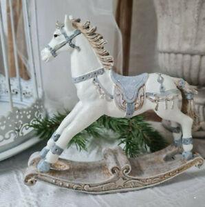 Schaukelpferd Pferd Deko Figur  Christmas Weihnachten Shabby Vintage