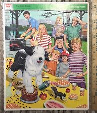 1972 The Brady Bunch Picnic Frame-Tray Puzzle #4558 Whitman Complete