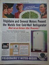 1939 Frigidaire General Motors Presents First Cold Wall Refigerator Original Ad