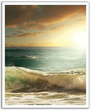 Removable Wall Decal Sticker Mural Breaking Surf Point Waves, 19.75 x 24'', NEW!