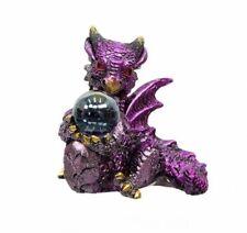 Miniature Fairy Garden Purplish Pink Dragon w/ Gazing Ball - Buy 3 Save $5