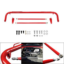 Stainless Steel 48 Racing Seats Safety Seat Belt Roll Harness Bar Rod Red Bar