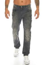 Cipo & Baxx jeans señores slim fit pantalones 374 antracita extravagantes pulcritud cadena