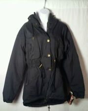 Ossi Skiwear Women's Poly-Nylon Coat M Black Hooded Padded Jacket MSP $140 Sz 14