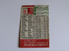 Schedina Totocalcio Concorso n°12 del 09-11-1980 - Come Foto [AF1]