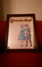Chocolats Lindt Advertising Mirror Vintage? Wooden Frame Chocolate ready to hang