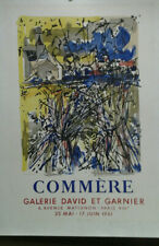 AFFICHE ORIGINALE ANCIENNE COMMERE GALERIE DAVID ET GARNIER PARIS 1961 MOURLOT