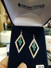 Montana silversmith jewelry earrings Diamond Cactus