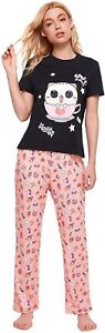 Milumia Women Comfy Cotton Pajamas Set Short Sleeves Tops and Pants Two Piece Sl