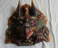 M943 Nepalese Hand Crafted Chhepu Garuda Wall Hanging Decorative WOODEN art MASK