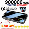 New 900000mAh Portable Power Bank 2USB External Battery Charger for All Phones