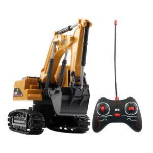 Remote Control Excavator Toy Children 4-Wheel Vehicle Model Children's day giftM