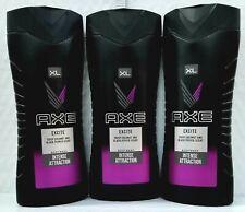 3 AXE Body Wash For Men EXCITE Crisp Coconut & Black Pepper Scent 400ml